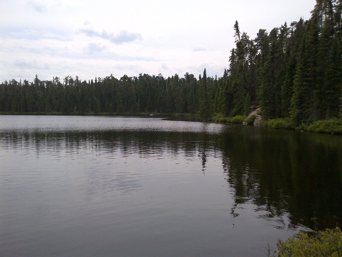 Lake 227, site of an ecosystem-wide fertilization experiment project for more than 40 years.